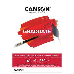 Papir slikarski za akril i ulje A5 290gr/20Lista Canson Graduate