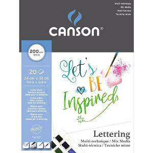 Papir slikarski za crtanje 24x32cm 200gr/20Lista Canson
