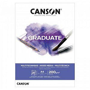 Papir slikarski za crtanje A4 200gr/20Lista Canson Graduate