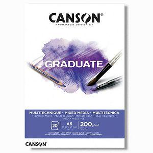 Papir slikarski za crtanje A5 200gr/20Lista Canson Graduate