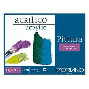 Papir za akril 25x35cm 400g 10L Fabriano Pittura