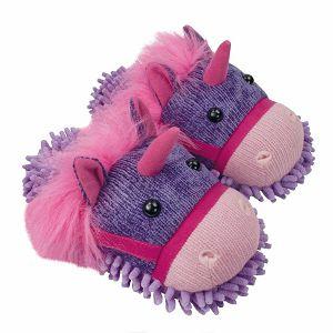PAPUČE Fun For Feet Fuzzy Jednorog 35.5-40.5