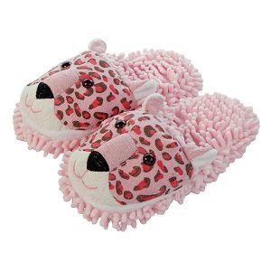 PAPUČE Fun For Feet Fuzzy Leopard 35.5-40.5
