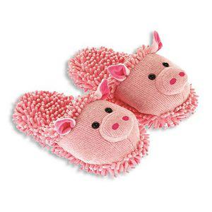 PAPUČE Fun For Feet Fuzzy Svinja 35.5-40.5