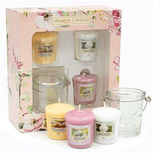 POKLON SET Yankee Candle 3 svijeće/49gr + svijećnjak, Garden Hideaway 093543