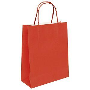 POKLON VREĆICA 26x12x35cm crvena, pletena ručka