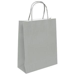 POKLON VREĆICA 26x12x35cm srebrna, pletena ručka