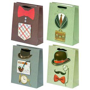 Poklon vrećica Gentleman, srednja 502878 4motiva