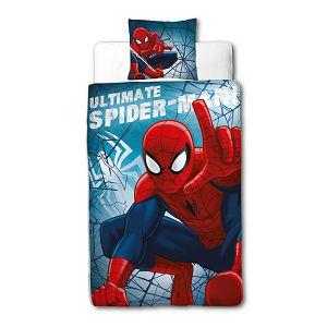 Posteljina za dječji krevetić 2-dijelna 140x200cm SPIDERMAN