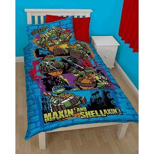 Posteljina za dječji krevetić 2-dijelna 135x200cm NINJA TURTLES