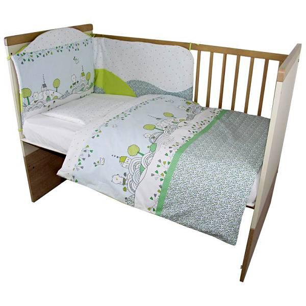 Posteljina za dječji krevetić 6 dijelna Medvjedićev san