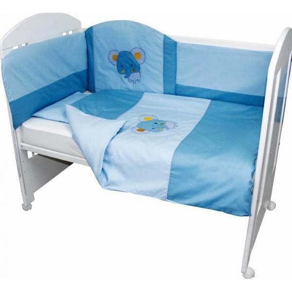 Posteljina za dječji krevetić 6 dijelna Medo sa štikom