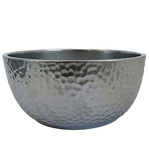 POSUDA za aranžiranje KERAMIČKA, okrugla, 9x20cm srebrna 196129