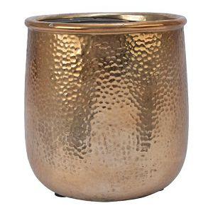 POSUDA za aranžiranje KERAMIČKA, okrugla, h20d18.5cm, zlatna 594423