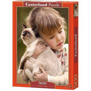 Puzzle 500 Castorland B-52943 Djevojčica s macom