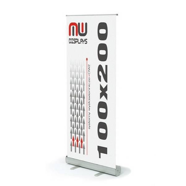 Roll-Up banner sa grafikom 100x200cm srebrni