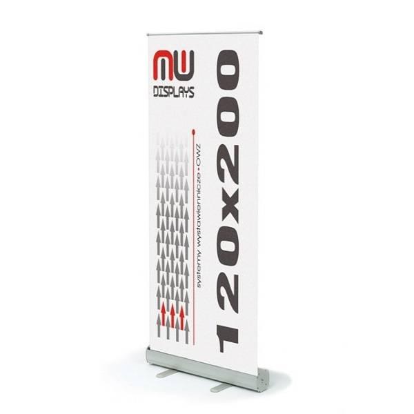 Roll-Up banner sa grafikom 120x200cm srebrni
