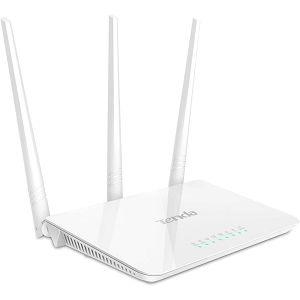 ROUTER Tenda F3, Wireless 300Mbps (2.4GHz) 1/3-port WAN/LAN, 3x5dBi, easy setup