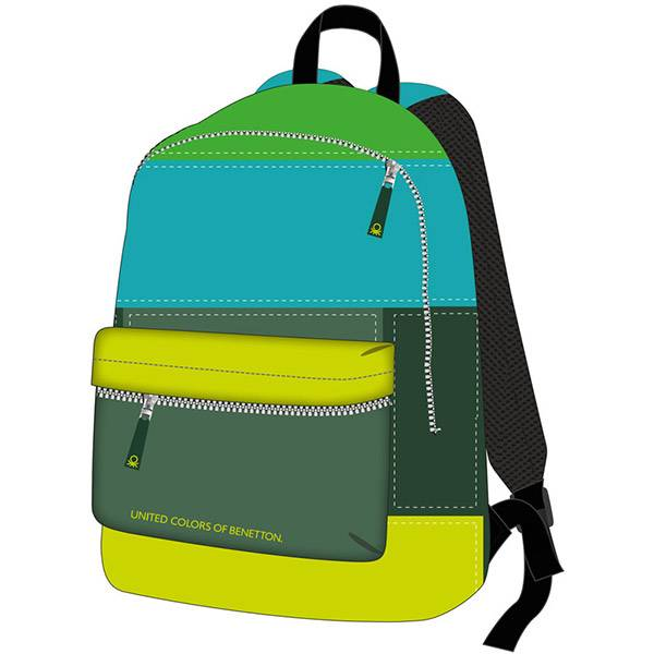 Ruksak Benetton Basic 17499 Target plavo/zelena/žuta