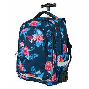 Ruksak na kotačima Target Floral Blue 21947