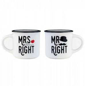 ŠALICA ESPRESSO 2/1 Legami, mini, Mrs & Mr Right