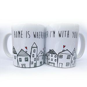 Šalica keramička Valentinovo HOME IS WHEREVER I'M WITH YOU