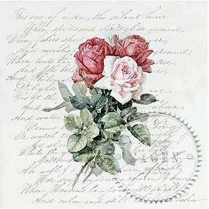 "Salveta ""Vintage tri ruže"" 1/1 komad"