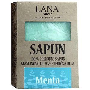 SAPUN MENTA prirodni, veliki u kutiji 100gr LANA NATURAL - Hrvatski proizvod