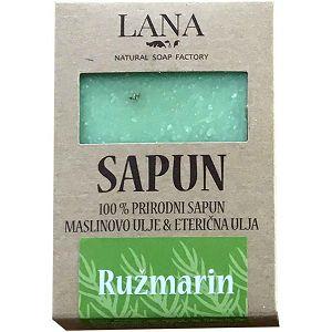 SAPUN RUŽMARIN prirodni, veliki u kutiji 100gr LANA NATURAL - Hrvatski proizvod
