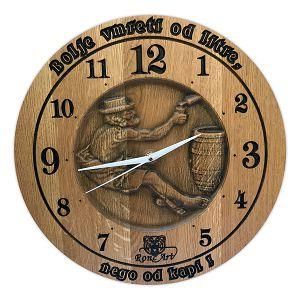 SAT drveni ručni rad 35cm Bolje vmreti od litre