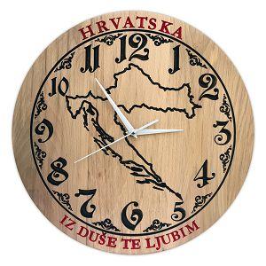 SAT drveni ručni rad 35cm HRVATSKA