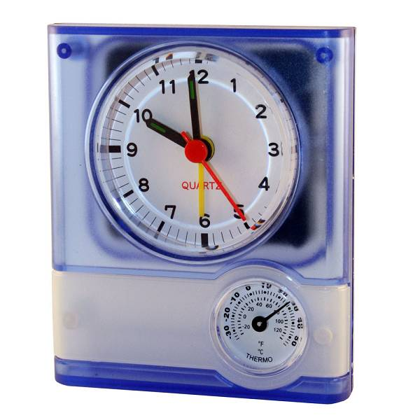 Sat stolni Weather plavi sa termometrom i vlagomjerom