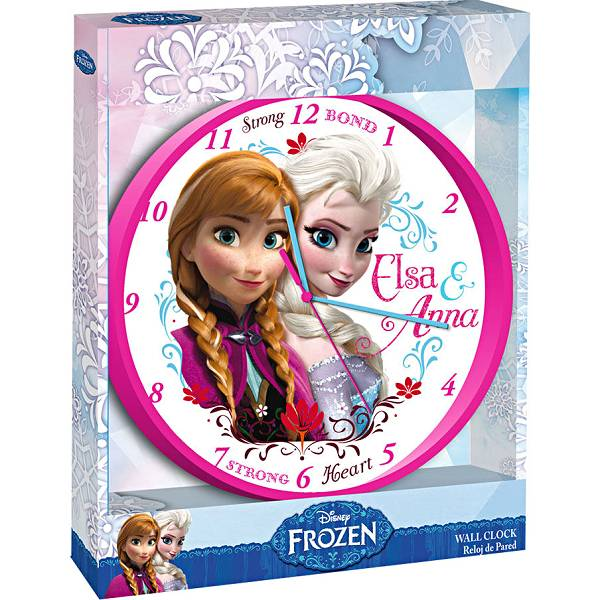 Sat zidni 24cm Elsa i Anna Frozen WD92071