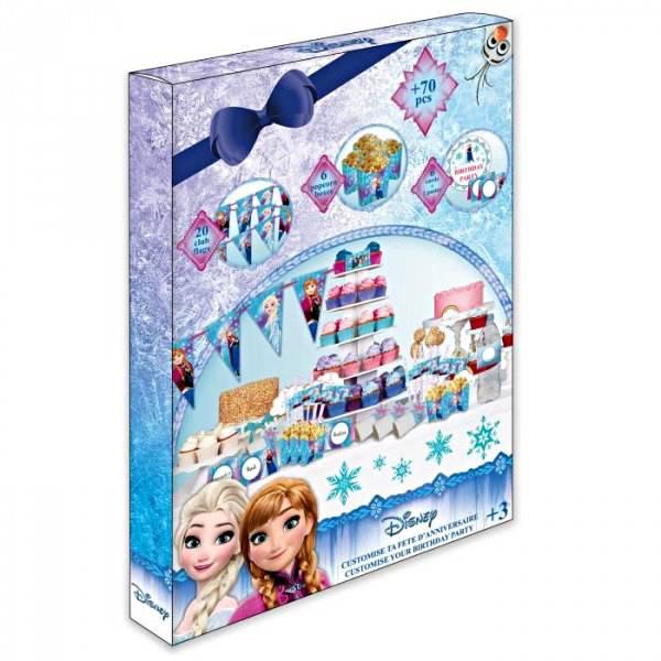 Set rođendanski za izradu dekoracija, ukrasa i pozivnica Frozen