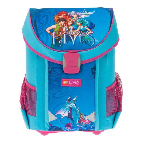 Školska anatomska torba Easy Lego Elves Aqua Blue 3u1 L43865