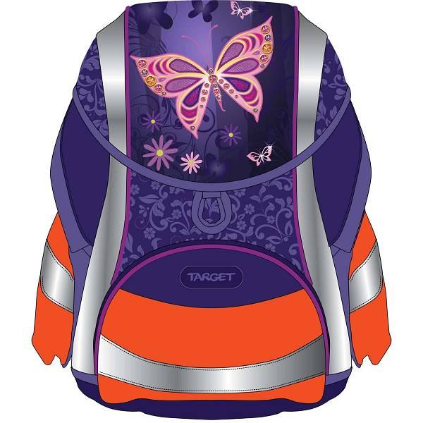 Školska torba 5u1 Gold Butterfly Target 17982