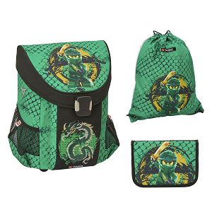 Školska torba Lego anatomska Ninjago Green Easy 3U1