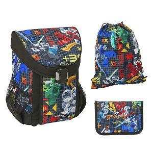 Školska torba Lego anatomska Ninjago Prime Empire 3U1