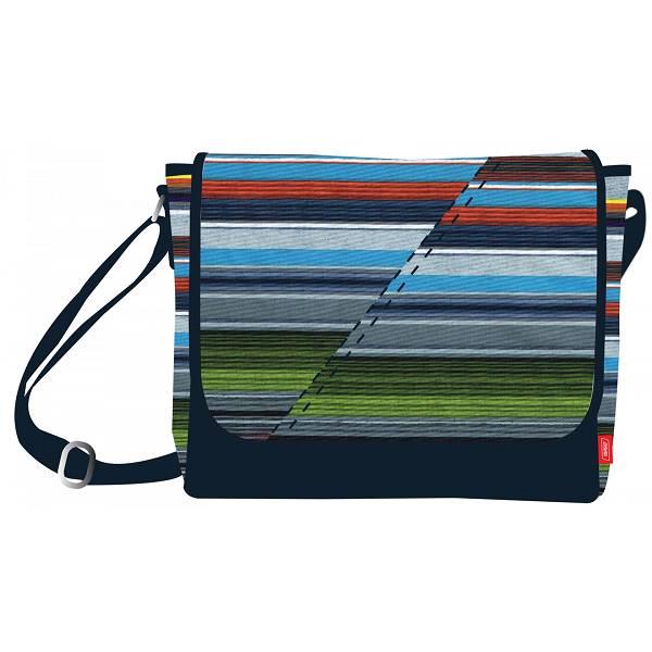Školska torba na rame Allover Lines 17304 Target tamno plava/višebojna