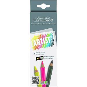 SLIKARSKA OLOVKA Cretacolor mega, neon, grafitna 6/1 28406 277109
