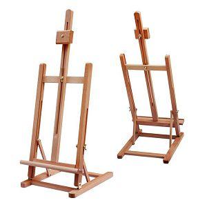 Slikarski stalak štafelaj drveni, stolni, podesivi, platno do 56cm, HJ-4B