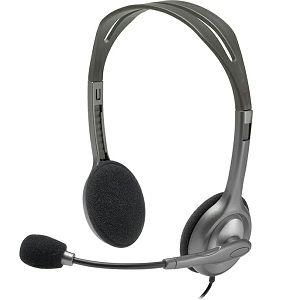SLUŠALICE LOGITECH H110, sa mikrofonom, sive