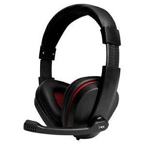 SLUŠALICE MS GHOST, crno/crvene za računalo, sa mikrofonom, over-ear, USB
