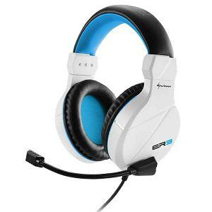 SLUŠALICE Sharkoon Rush ER3, sa mikrofonom, bijelo/plave