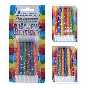 Svijećice rođendanske 12/1 + natpis Happy Birthday 205216