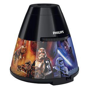Svjetiljka LED Noćno svjetlo sa projektorom za dječju sobu 2u1 STAR WARS Philips