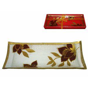 Tanjur staklo dekorativni u poklon kutiji 31x12x3cm