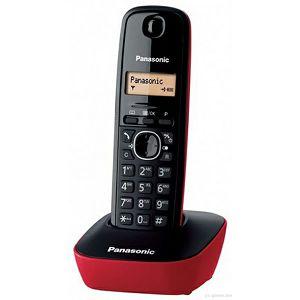 TELEFON bežični PANASONIC KX-TG 1611H/R crveni/crni