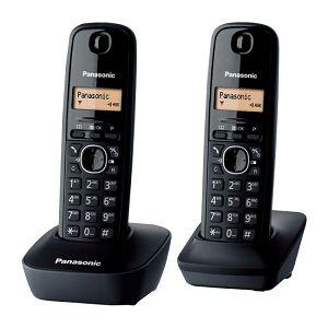 TELEFON bežični PANASONIC KX-TG 1612H crni,2 slušalice