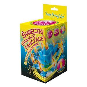 TORTNA FONTANA muzička Music Candle sa svijećicama Jor.640209 plava